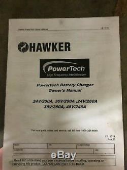 Hawker Powertech 36v 36 volt forklift battery charger