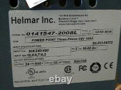 Helmar Inc. 24vDC Forklift Battery Charger 208/240/480, 100A
