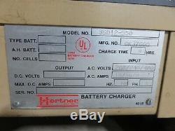 Hertner 3SD12-550 Battery Charger Fork Lift 12 Cell Auto 5000 24 Volt