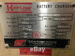 Hertner 3SF12-450 Forklift Battery Charger 24V 83A 450AH 1PH