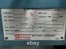 Hertner Auto 1000 3SN12-550 Forklift Battery Charger 24V 550Ah 480v 1ph