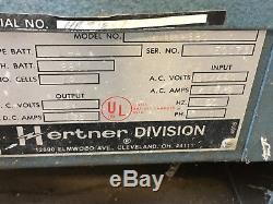 Hertner Auto 1000 Forklift Charger 24V DC Output, model 3SN12-680 Used