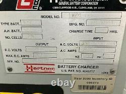 Hertner Auto 6000 Fork Lift Battery Charger Model TW24-865 / 208/240/480V