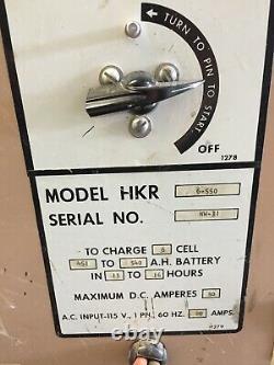 Hertner Battery Charger Model HKR 6-550 DC amp 50 6 cell
