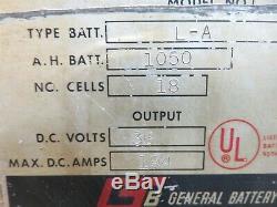 Hertner Forklift Battery Charger 36 Volt L-A 1050 A. H. Batt 3 Phase 240/280 A