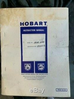 Hobart 1R12-450 Forklift Charger