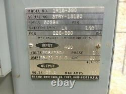 Hobart 1R15-380 Forklift Battery Charger Type LA 208v/230v/460v 1Ph 80 Amp