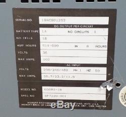 Hobart 600m1-18 Battery-mate Industrial Battery Forklift Charger 1ph 36v 600ah