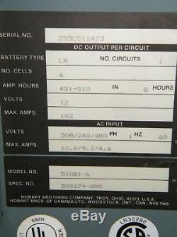 Hobart Accu-Charge Forklift Battery Charger 510B1-6 12 Volts palletjack scrubber