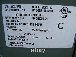 Hobart Accu-Charge Forklift Battery Charger 510C3-12 510C3 24 Volts 12 Cells