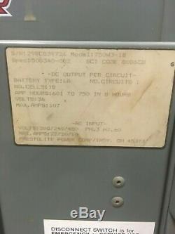 Hobart Terminator Forklift Battery Charger 750W3-18 18 Cell 36v 208v-480v KMGM