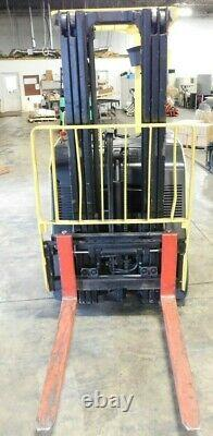 Hyster Electric Stand Up Forklift 3000 LBS With Battery Charger Height 189 Mast