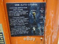Industrial GNB 12v 12 Volt Forklift Lift Battery Charger 1 Phase 208 240 480
