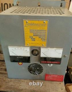 LaMARCHE A11-6-24v-A1 120v 6 amps 24v 20 CELL BATTERY FORKLIFT CHARGER SOLAR
