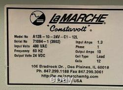 LaMarche A12B Battery Charger A12B-10-24V-C1-12L 480VAC 60Hz 24VDC WARRANTY