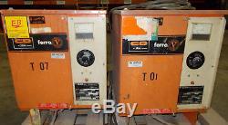 Lot of 2 FR12C/E105FVR Industrial Forklift Battery Charger 24V 12 Cells 510AH