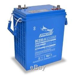 Lot of 4 Fullriver DC-335-6 AGM Deep Cycle Batteries for Solar, Forklift, Ect