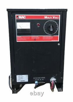 Mac Multi Volt Industrial Battery Charger MCM50A 12/24/36/48 Used #10339