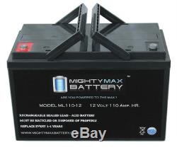 Mighty Max 12V 110AH SLA Replaces Solar Forklift Lighting Deep Cycle Battery