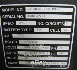 NEW DOUGLAS LGF3B12-750 FORKLIFT BATTERY CHARGER 3PH 24V 24 volt 24 v 750 AH