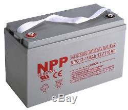 NPP NPG12-110Ah Gel 12V 110Ah Battery for Forklift Pallet Jack Mobile Home RV