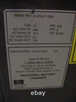 New Exide GNB EHF-HP 24 V Battery Charger Energy Efficient Mod EHP24T15M