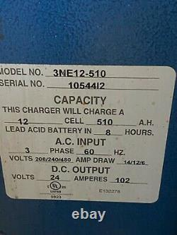 North East Forklift Battery Charger 12 Cell 3 Phase 48 VDC Out 3ne12-510