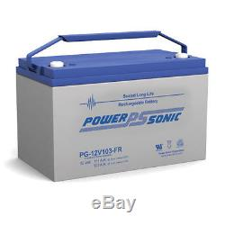 Power-Sonic PG12V103-FR 12V 103AH Forklift Pallet Jack Mobile Home RV Battery