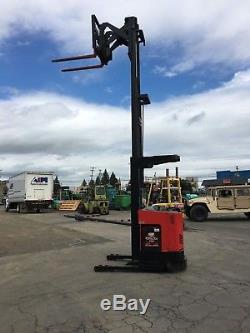 RAYMOND FORKLIFT REACH TRUCK 3000LB 211 LIFT WithBATTERY & CHARGER, 95 TALL, HD