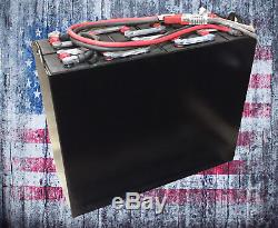 Refurbished 12-85-13 24V 510Ah Industrial Steel Case Forklift Battery