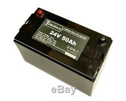 TOBattery LFP2450AP 24V 50Ah LiFePO4 Battery for Golf Car, Electric forklift
