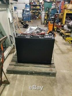Used 24v Electric Steel Case Forklift Battery, 35.5'' W x 30'' T x 13'' D