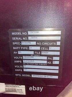 Used Kodiak Forklift Battery Charger 24V 750 AH 3 Phase Model 12K750B3