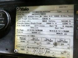Yale 8000 lb Forklift Fork Lift 328 Hours 36 Volt Battery Sideshift Charger