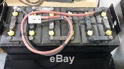 12-125-13 24 Volts Forklift Batterie Reconditionné Testé, Entretenu, Nettoyé Et Rayé