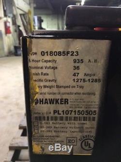 2014 Hawker Forklift Batterie 18-85-23 36 Volts