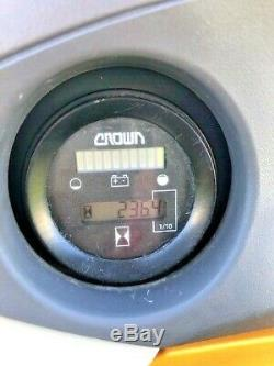 2017 Crown Electric Walkie Stacker Sx3000 78/168 Hauteur Maximum Batterie & Chargeur