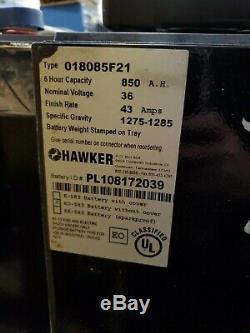 2017 Hawker Powerline 36v Chariot Élévateur Batterie 850ah Eo-583 018085f21 18-85-21