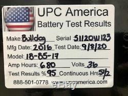 36 Volt 18-85-17 Chariot Élévateur Batterie, 680 Ah, 2016, Charge Testée