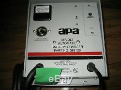 Apa Advance 36 V 36 Amp Chargeur De Batterie Chariot Wet # 388120 Withsb175a End Cord
