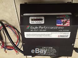 Batterie, Chargeur, 36 Volts, 25 Ampères, Eagle Performance, Chariot De Golf, Chariot Élévateur Ect