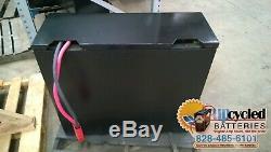 Batterie De Chariot Élévateur 12-125-13 24 Volts Remis À Neuf Avec Crédit / Garantie De Base