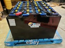 Batterie De Chariot Élévateur 12-85-7 24 Volts Remis À Neuf Avec Crédit / Garantie De Base