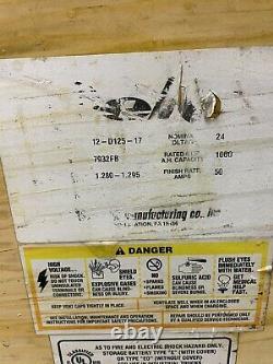 Batterie De Chariot Élévateur Électrique 12-125-17, 24 Volts, 1000 Ah (à 6 Heures.) Deka