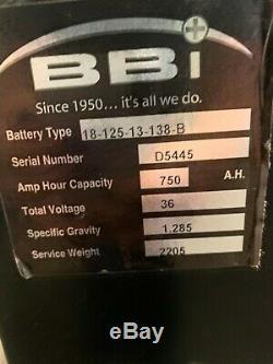 Bbi Chariot Batterie 18-125-13, 750 A. H, 36 Volt, 18-125-13-138-b