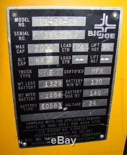 Big Joe 2000lb Chariot Électrique Chariot Élévateur À Pile Électrique W Chariot Élévateur À Fourche Stacker
