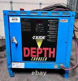 Chargeur De Batterie De Chariot Élévateur Exide Depth D3e-12-550, 24v, 88a, 3ph, Utilisé