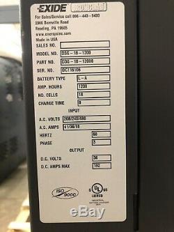 Chargeur De Batterie Externe 36 Volts, 1 200 Ampères Heure, 3ph, Entrée 240/480/575 Volts