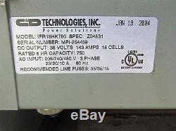 Chargeur De Batterie Forklift Ifr18hk750 36vdc 143a 18 Cell Ferrocharge Ifr D6189.29