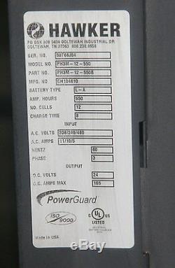 Chargeur De Batterie Hawker 24v Ph3m-12-550